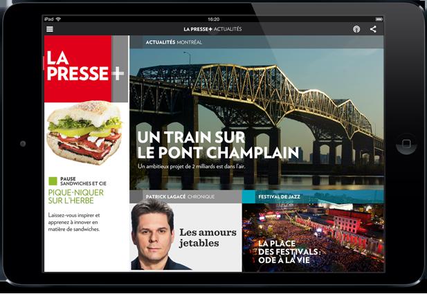 Page d'accueil de La Presse+